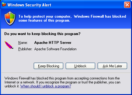 Apache on Win Xp Pro step-by-step installation screen shots