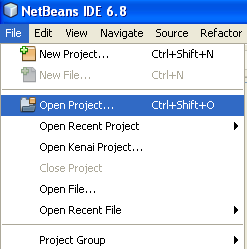 Opening existing Java project in NetBeans IDE