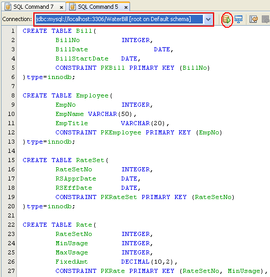 Step by step on how to convert the entity relationship diagram erd step by step on database modeling using erd on mysql database screenshots ccuart Images