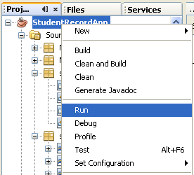 Step-by-step on Java desktop GUI application development and MySQL screen snapshots