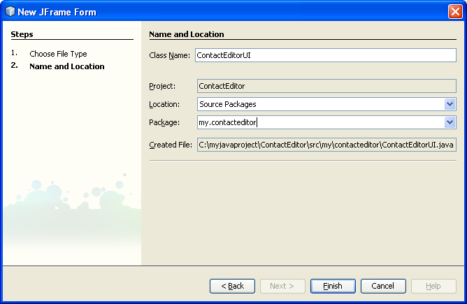 How-to tutorial on developing Java desktop GUI applications using