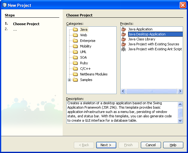 tutorial on how to develop the java desktop gui with