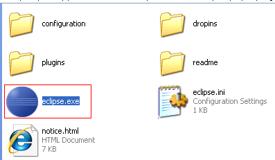 Java, Aspect Oriented Programming, Aspectj and Eclipse - the Eclipse executable file (and other files and folders)