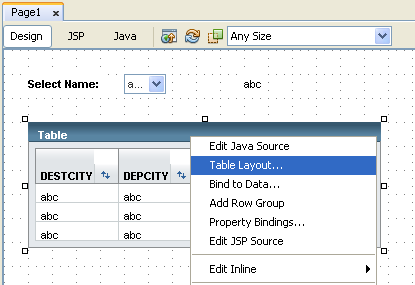 Step-by-step on Java web application using Data bound component to access Java DB, Derby database screenshots