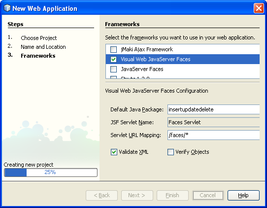Step-by-step on Java web application development: insert, update and delete data on Derby database sceenshots