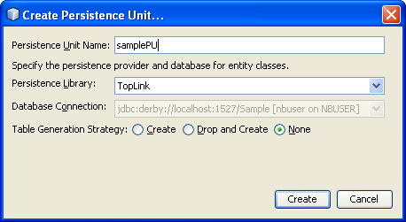 Step-by-step on the Java web application: Java Persistence API (JPA) and Java Server Faces (JSF) Java DB database project screenshots