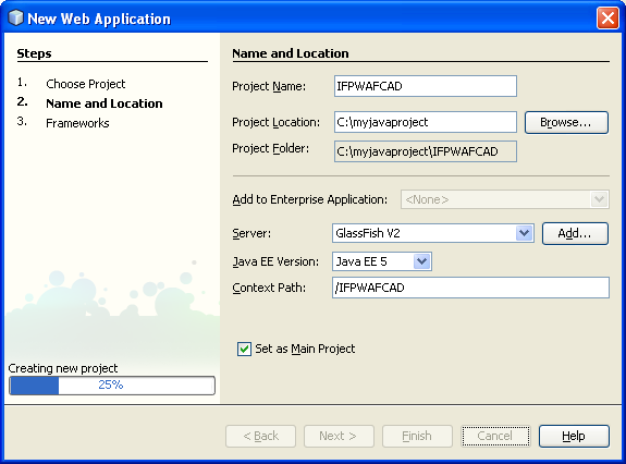 A very simple Java web applications using JSP, JSF and