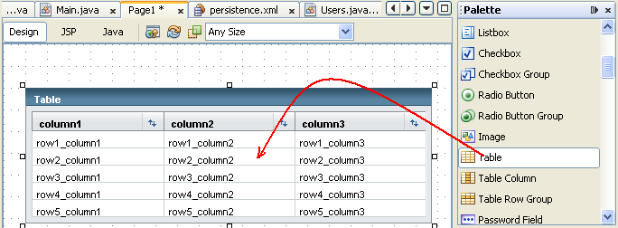 Java web application using NetBeans: JSF, JPA and JSP technologies with MySQL database screenshots