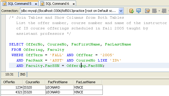 sql query examples for practice pdf