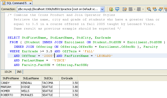 A hands-on practice on SQL DML of the MySQL using Java NetBeans IDE ...