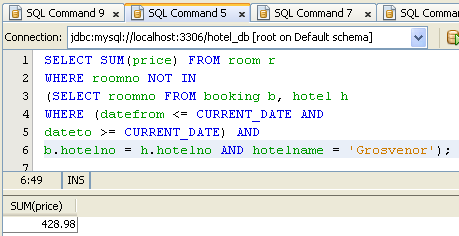 MySQL database data manipulation language (DML) practice - SQL queries and the related