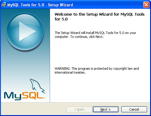 step-by-step on istall, test and use MySQL GUI tool screen snapshots