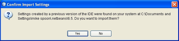 NetBeans IDE Installation: the previous version and setting update prompt