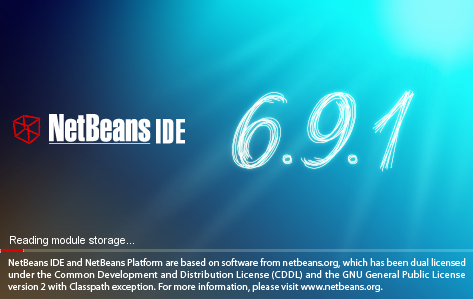 NetBeans IDE Installer: NetBeans splash screen 1