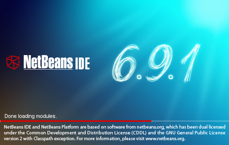 NetBeans IDE Installer: NetBeans splash screen 3