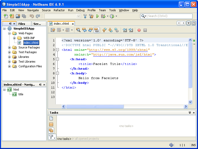 The NetBeans IDE update prompt and building a simple java web