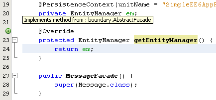 NetBeans IDE: selecting the Java web application project, the hint resolve the warning