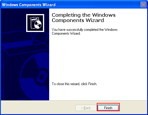 The IIS Windows components installation was completed successfully