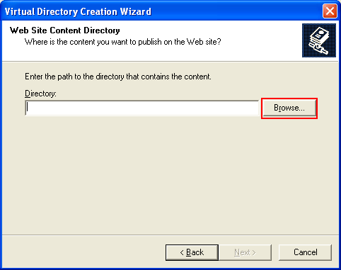 ActivePerl, Perl for Windows - setting up the IIS virtual directory physical path