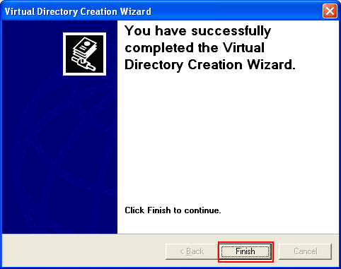 ActivePerl, Perl for Windows - the IIS virtual directory setup was completed successfully